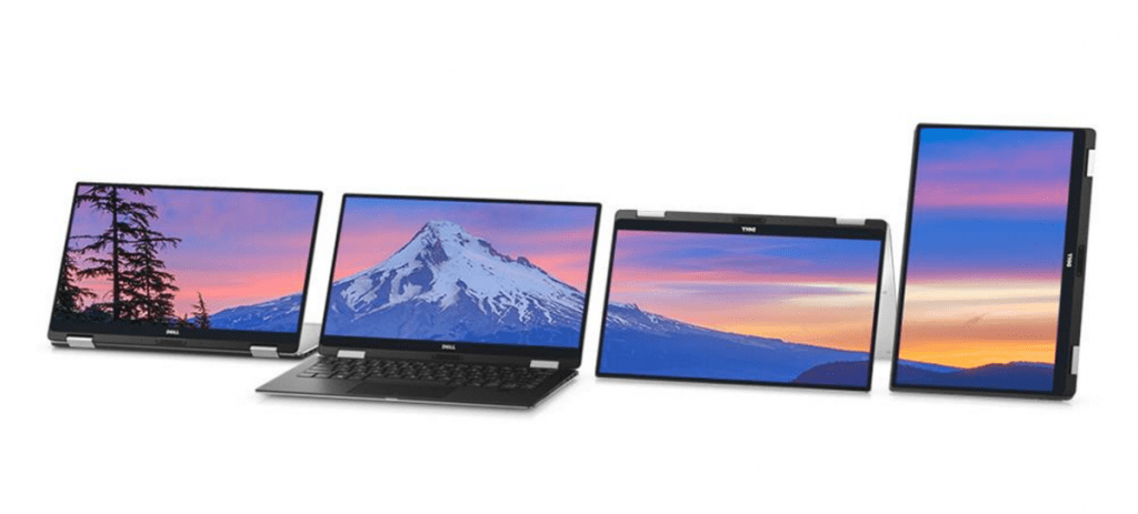 Dell XPS 13 2 in 1 convertible laptop modes (2)