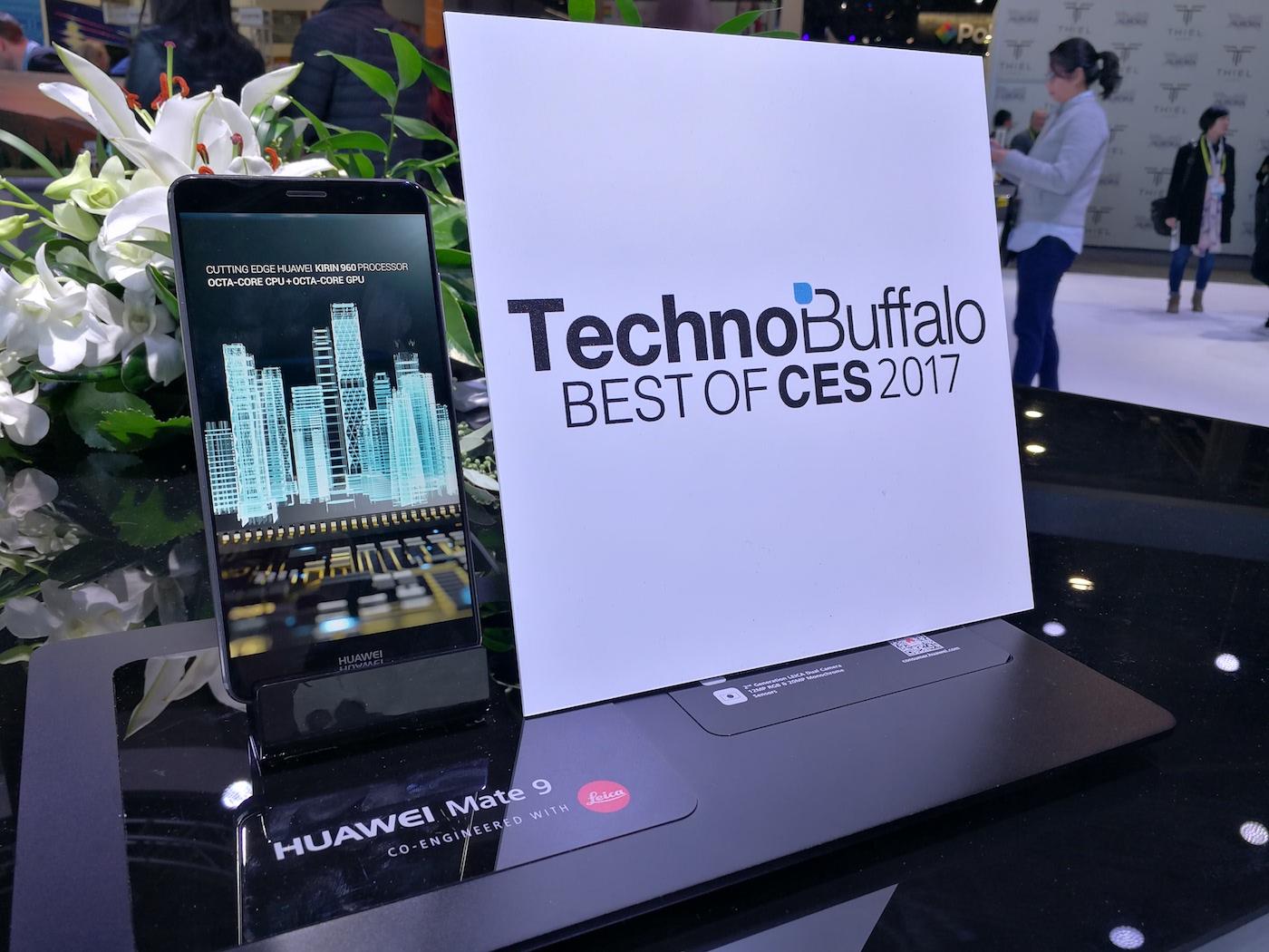 Huawei Mate 9 TechnoBuffalo CES 2017 award
