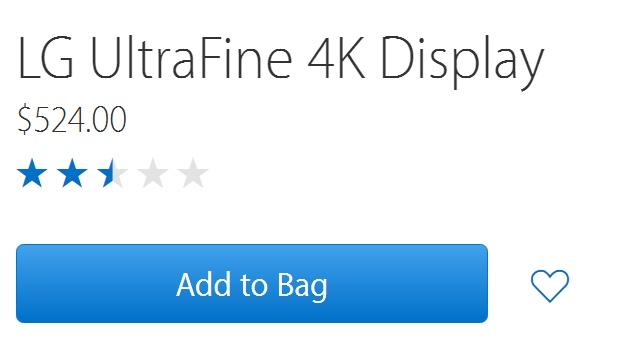 LG UltraFine 4K rating