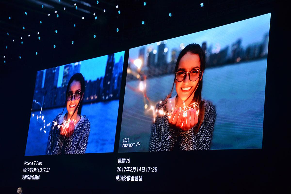 Huawei Honor V9 camera vs iPhone 7 Plus