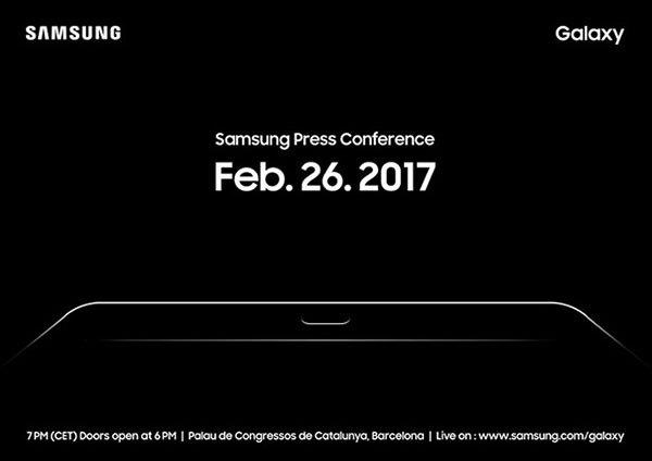 Samsung Galaxy Tab S3 MWC 2017 invitation