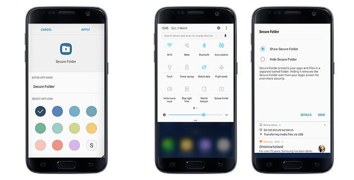 Secure Folder on the Samsung Galaxy S7