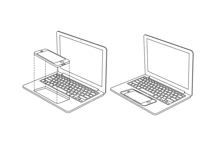 Apple iPhone MacBook dock patent