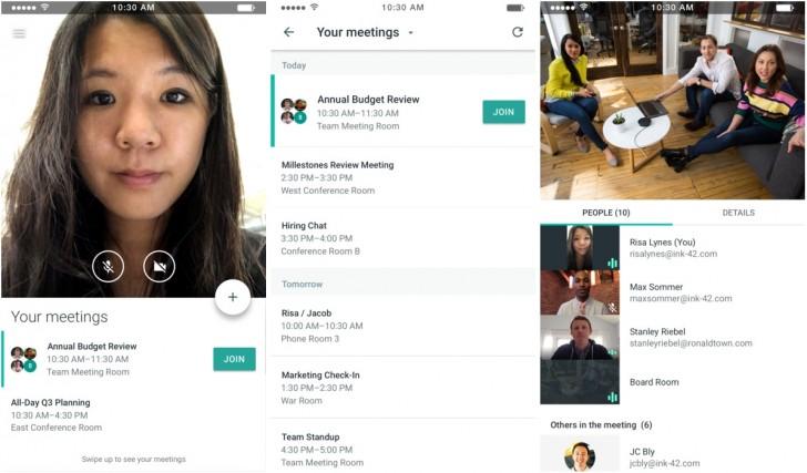 Google Meet by Google Hangouts iOS (2)