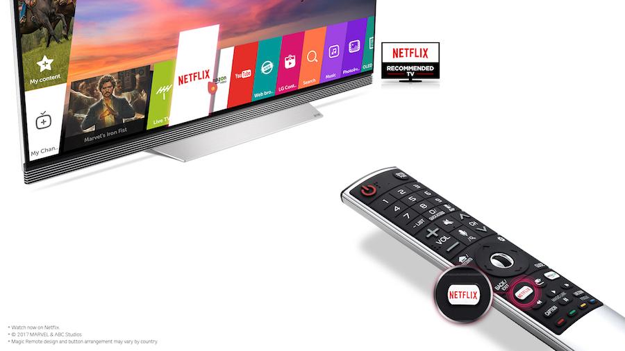 Netflix Hot Key The Remote of 2017 LG OLED TV