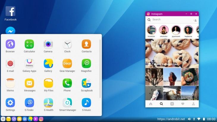 Samsung DeX UI