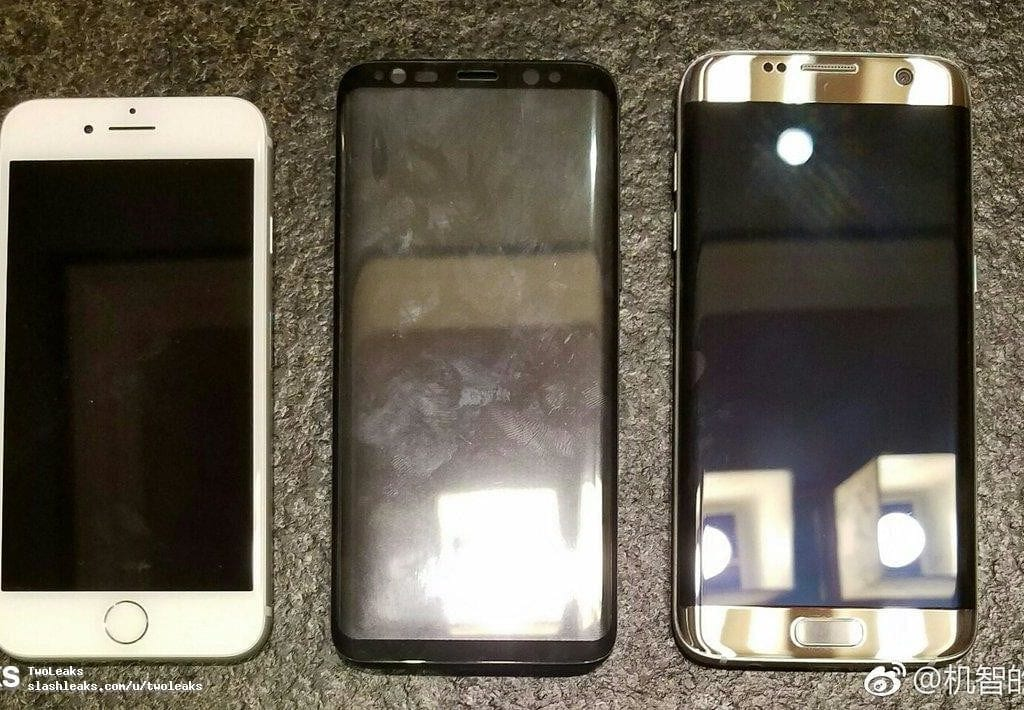 Samsung Galaxy S8 vs S7 Edge vs iPhone 7 leak