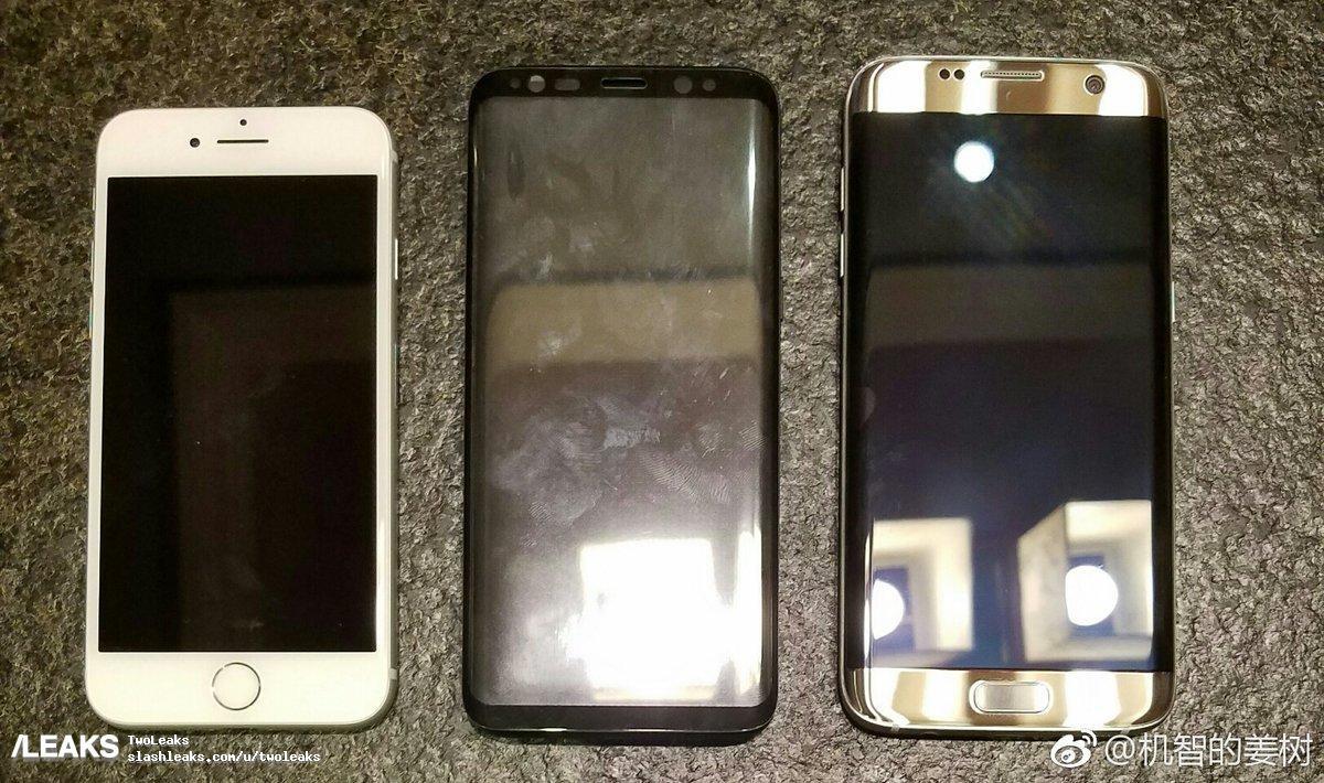 Samsung Galaxy S8 vs S7 Edge vs iPhone 7 leak