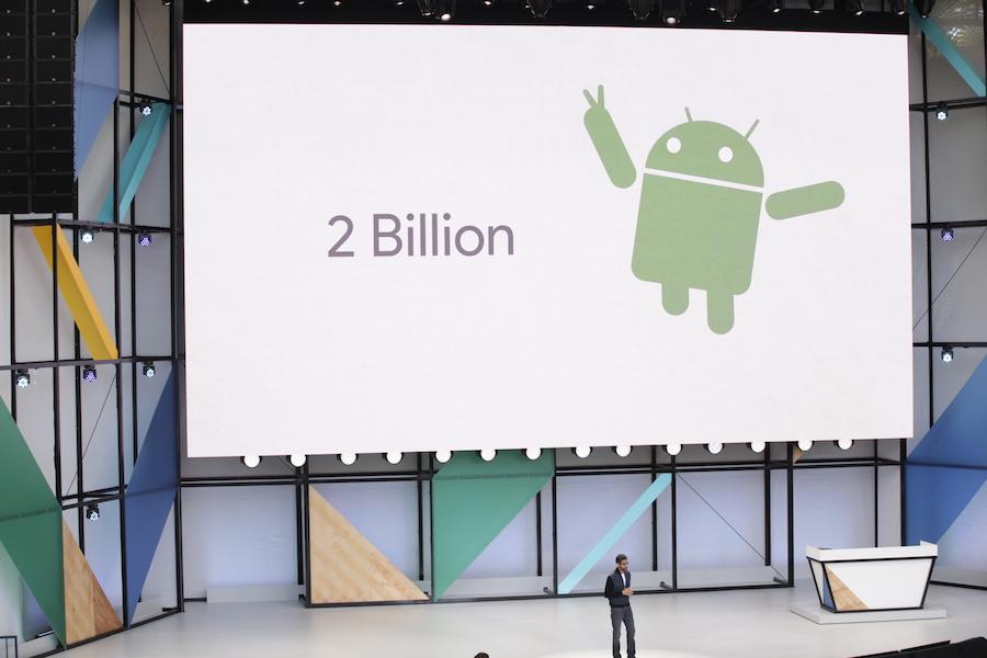 2 Billion Android devices Google I:O 2017