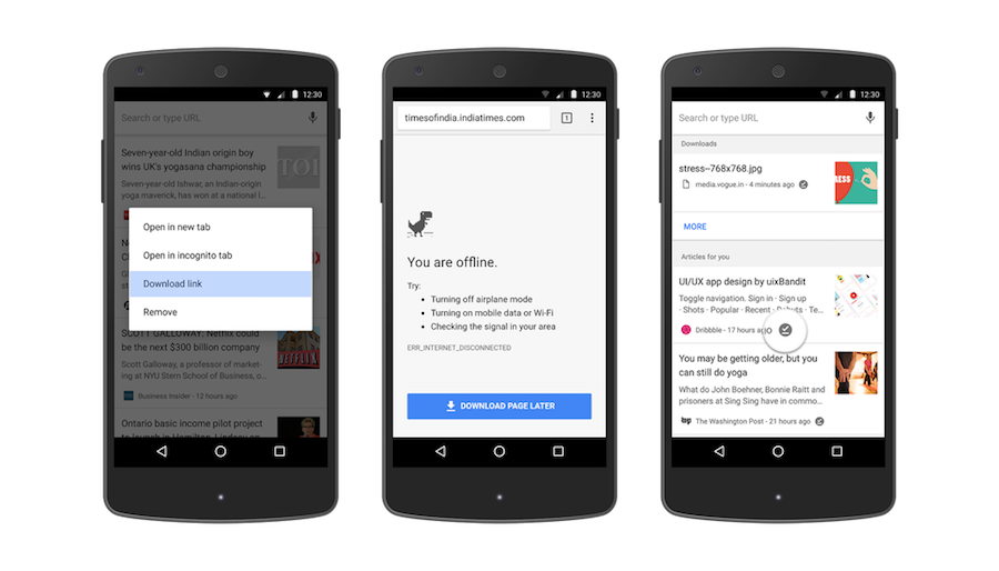 Google Chrome for Android Offline