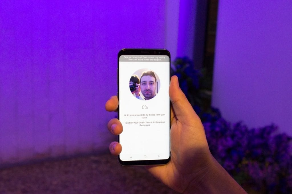 Samsung Galaxy S8 Face recognition