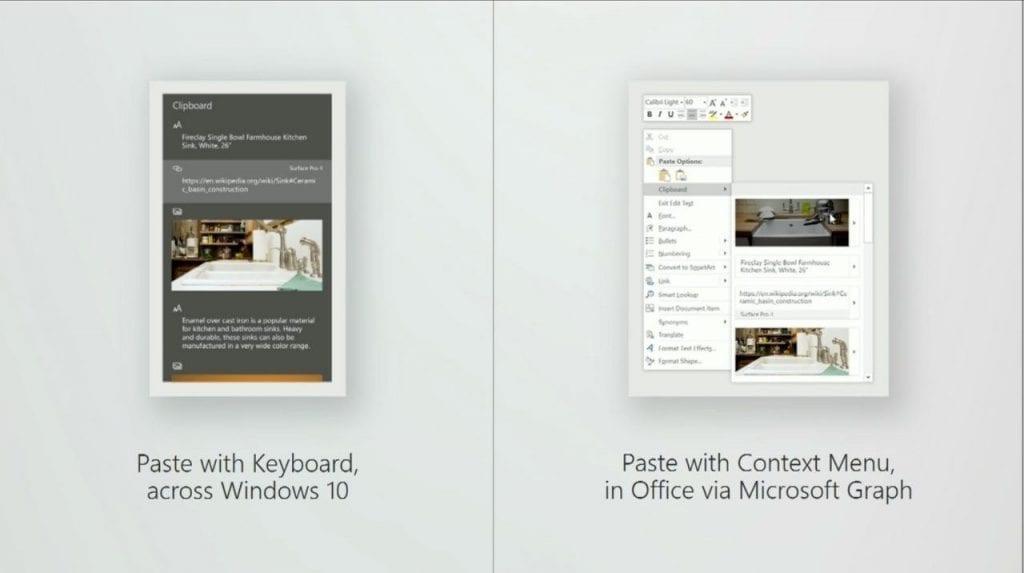 Windows 10 Fall Creators Update cloud clipboard
