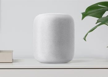 Apple HomePod white shelf