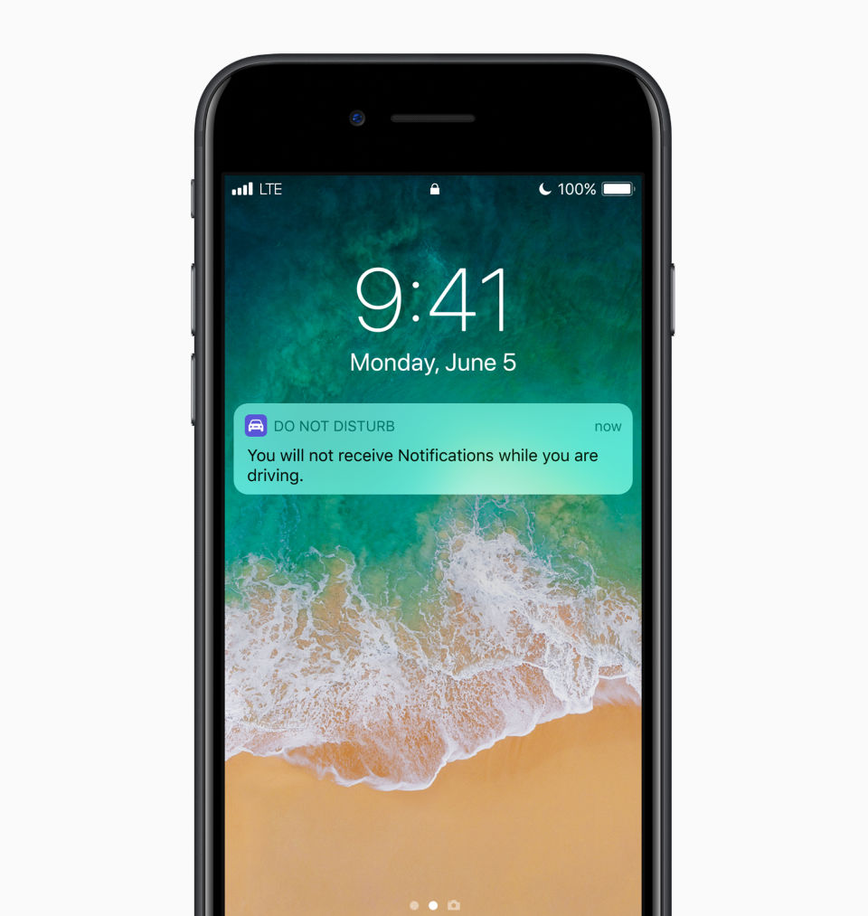 Apple iOS 11 iPhone Do Not Disturb While Driving