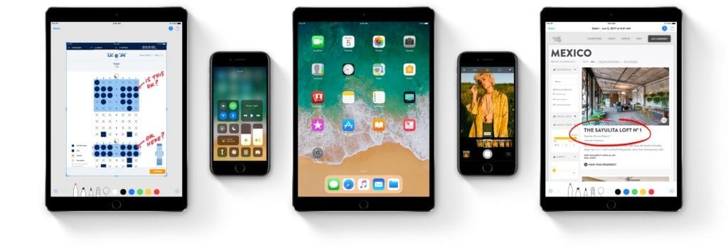 Apple iOS 11 on iPhone 7 and iPad Pro