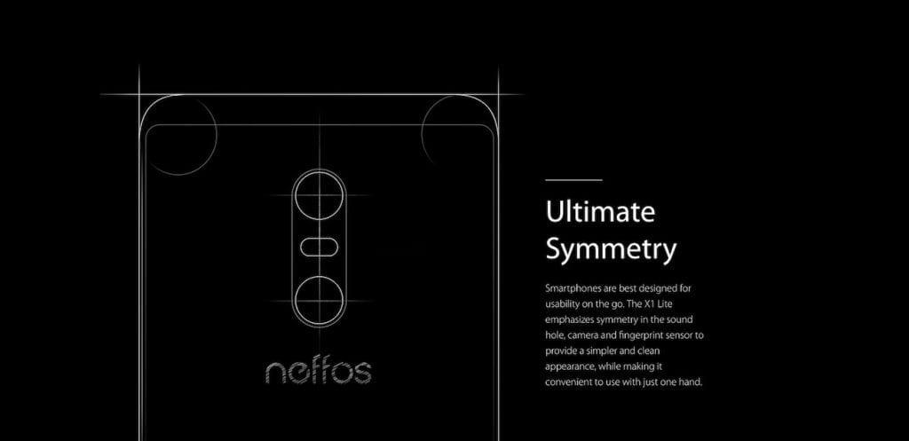 TP Link Neffos X1 Lite symmetry