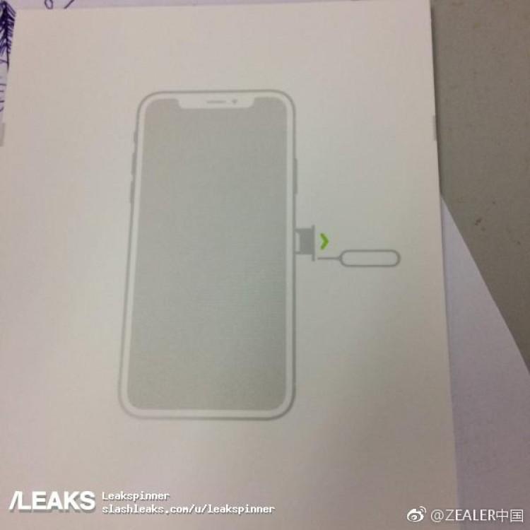 Apple iPhone 8 SIM Tray diagram leak