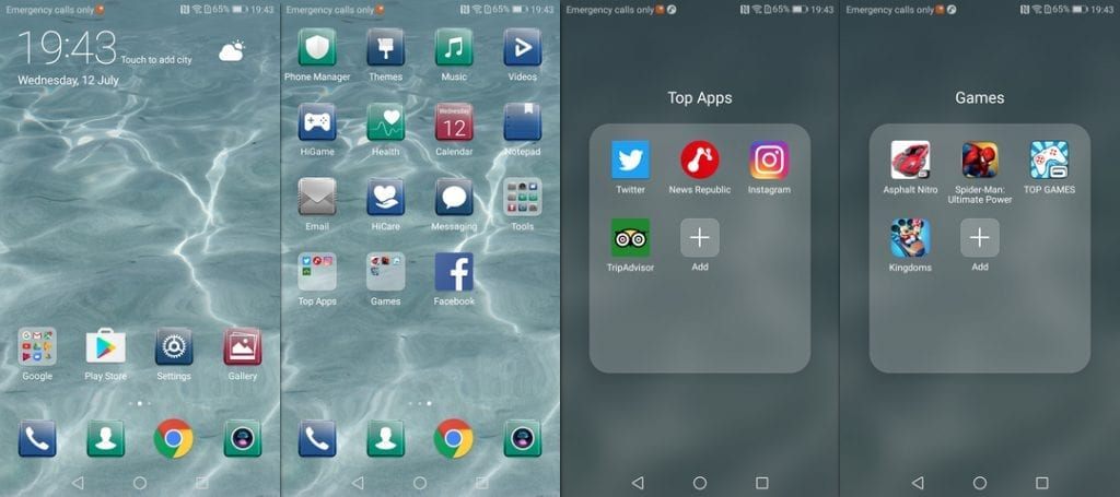 EMUI 5.1 on Huawei P10 Lite Screenshots