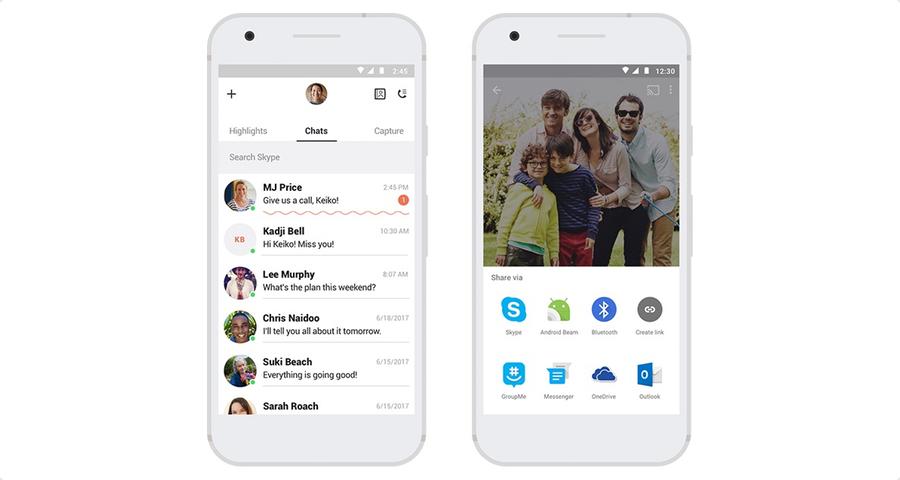 Microsoft Skype Status and Share