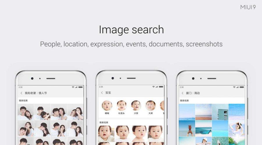Xiaomi MIUI 9 Image search