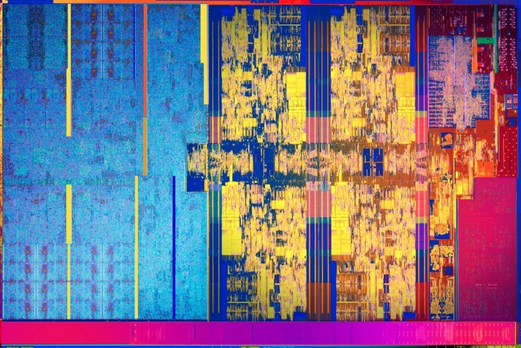 8th Gen Intel Core U series processor die