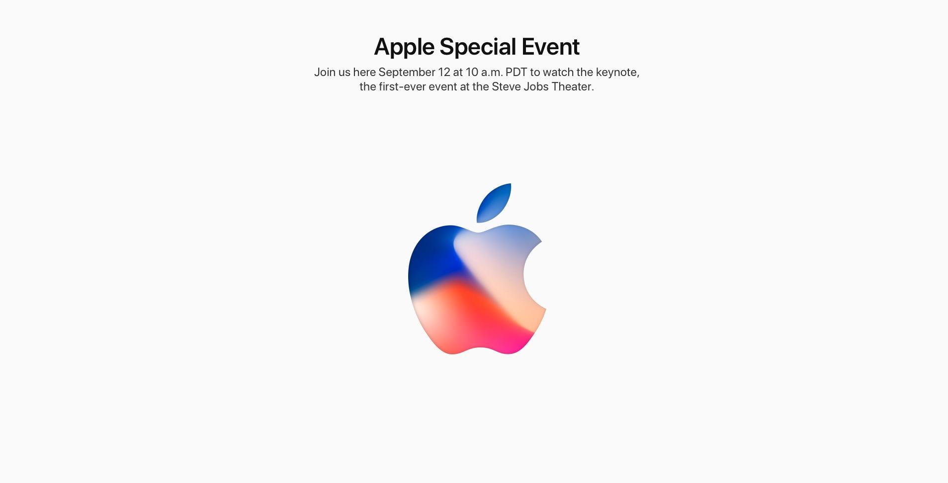 Apple September 2017 event