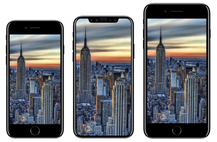 Apple iPhone 8 render 7 and 7s