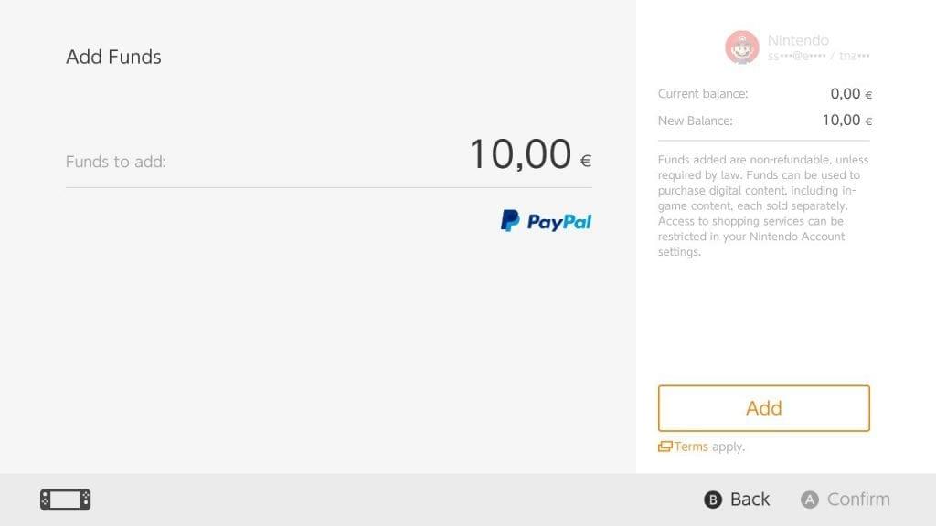 PayPal Nintendo Switch EU02