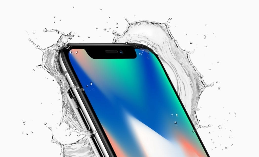 Apple iPhone X splash