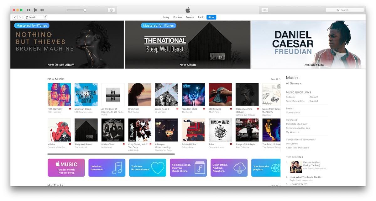 Apple iTunes 12.7 Music