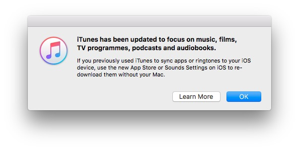Apple iTunes App Store removal