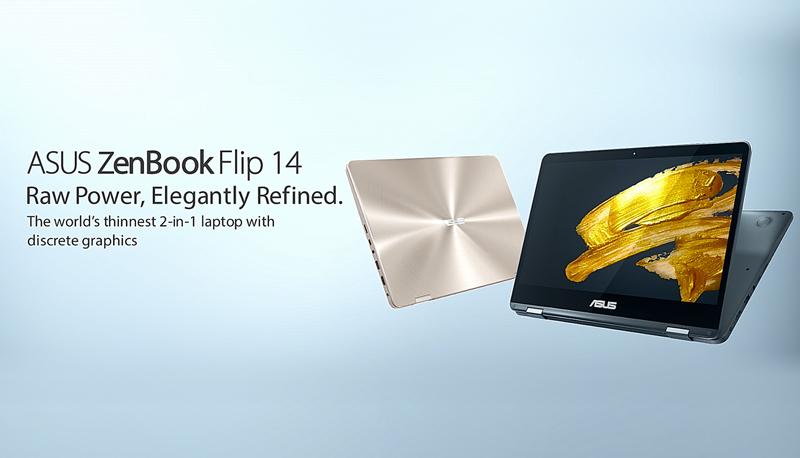 Asus ZenBook Flip 14 hero