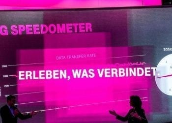 Deutsche Telekom - Huawei - 5G Speedometer at IFA 2017