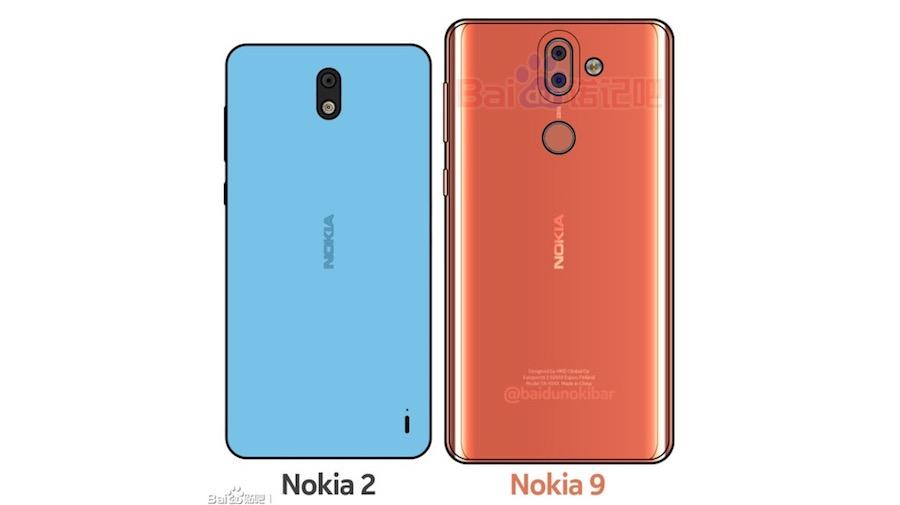 Nokia 2 and Nokia 9 mock up