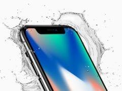 Apple iPhone X top corner splash