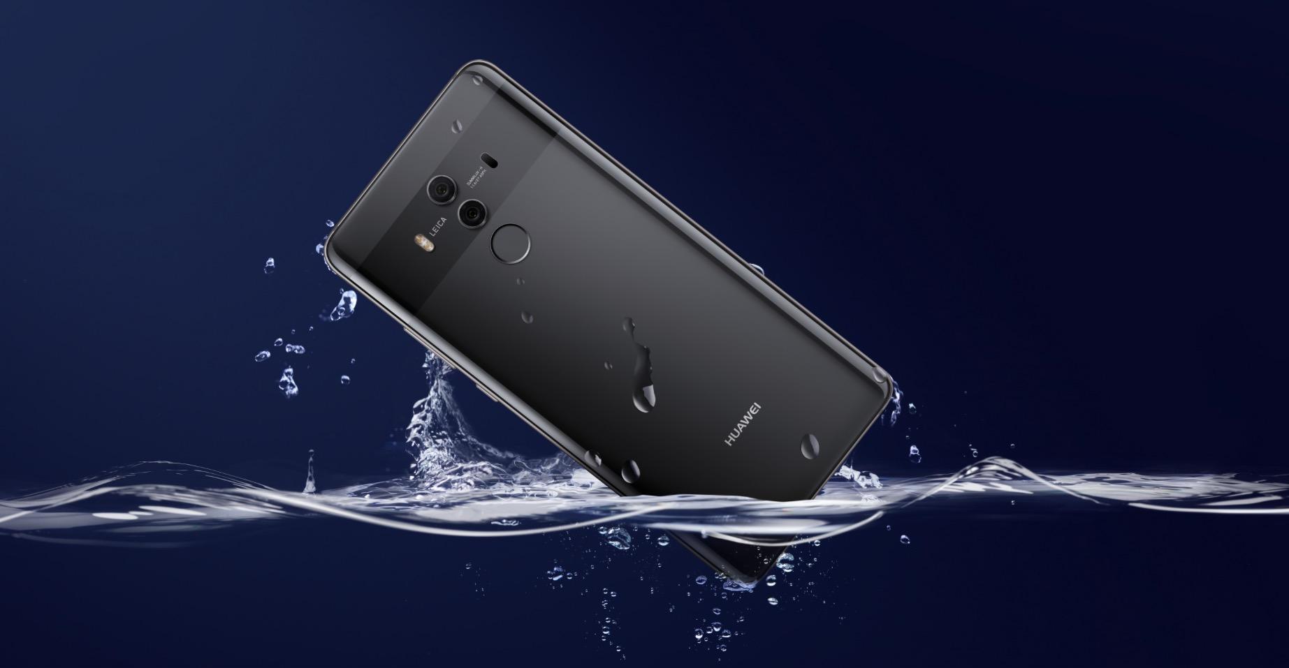 Huawei Mate 10 Pro water
