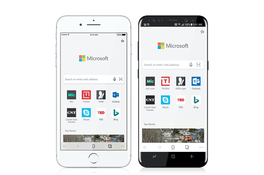 Microsoft Edge browser for iOS and Android