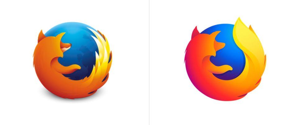 Mozilla Firefox logo redesign vs old (2)