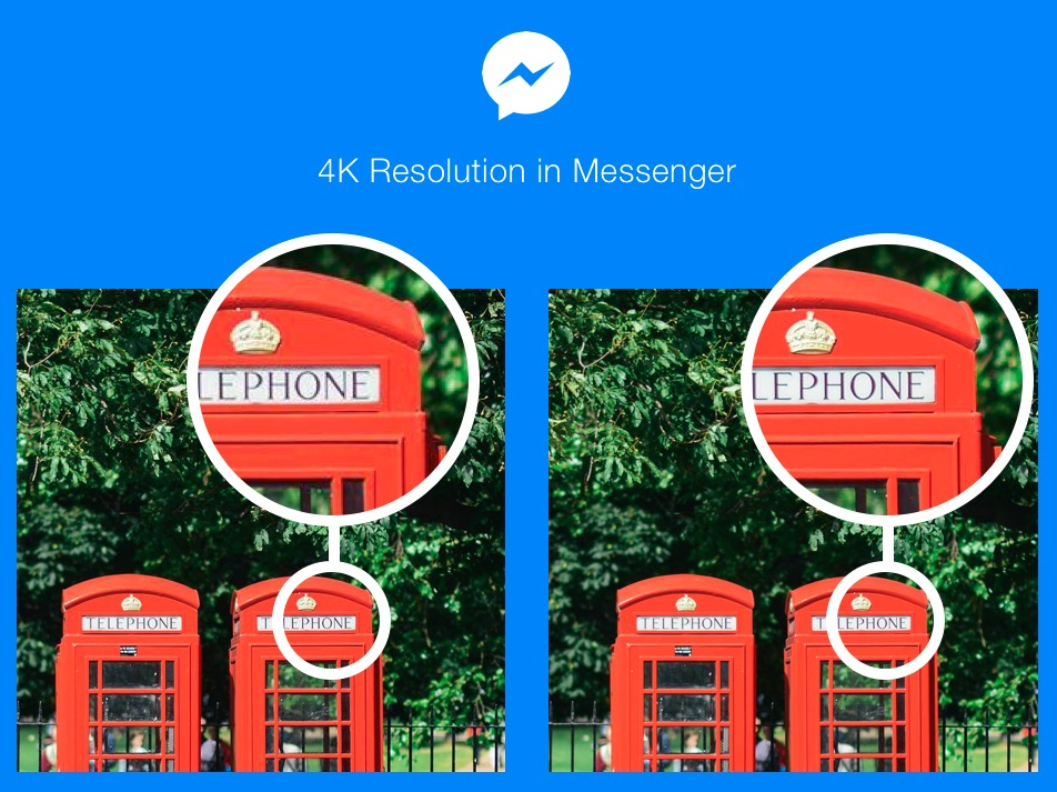 Facebook Messenger 4K photos