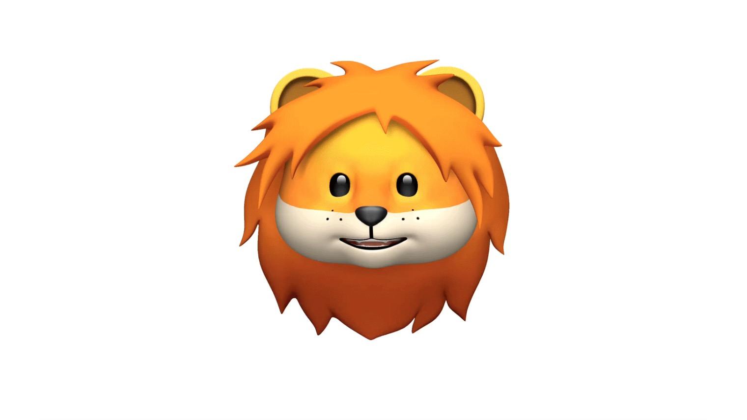 Apple iOS 11.3 Lion Animoji