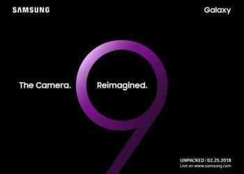 Samsung Galaxy S9 Unpacked event invitation