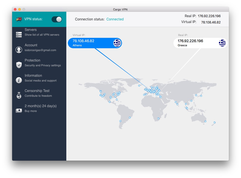 Cargo VPN Mac app