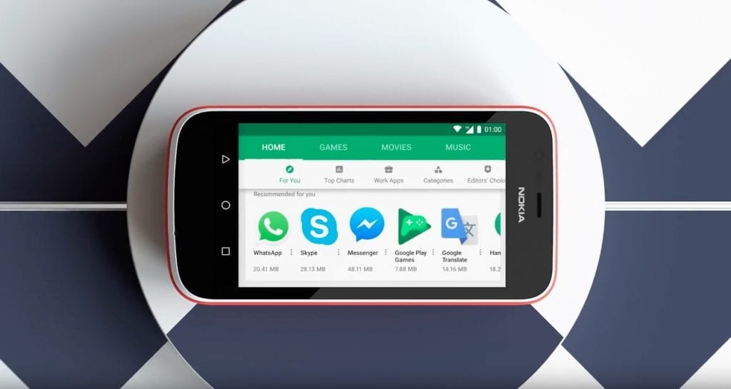 HMD Nokia 1 Google Play Store