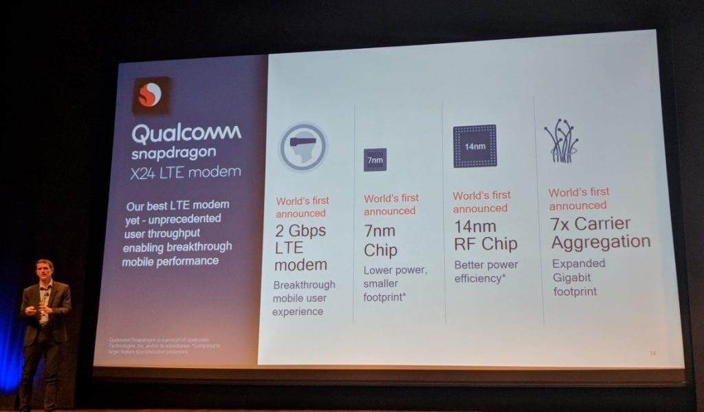 Qualcomm Snapdragon X24 LTE modem