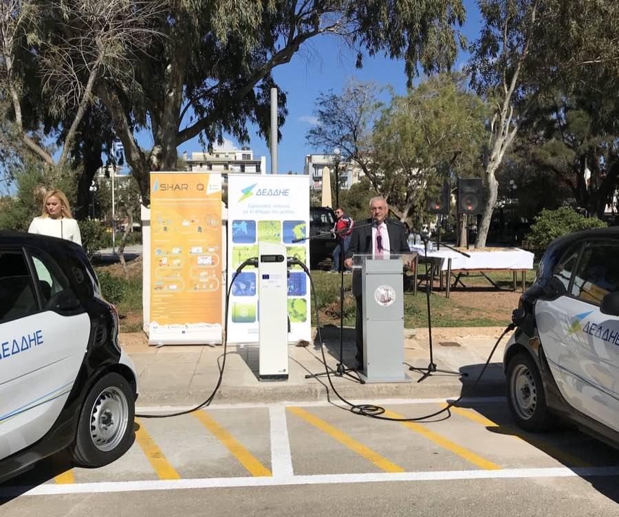 SHAR-Q EV charging station at Lavreotiki