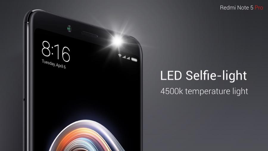 Xiaomi Redmi Note 5 Pro LED Selfie light