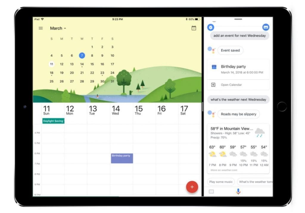 Google Assistant for iPad