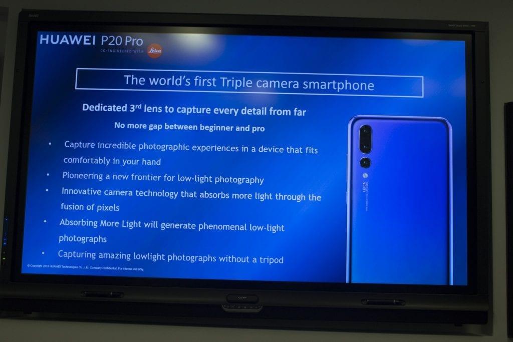Huawei P20 Pro camera details