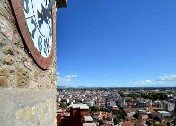 Top of the Clock Tower in the Byzantine Castle of Trikala