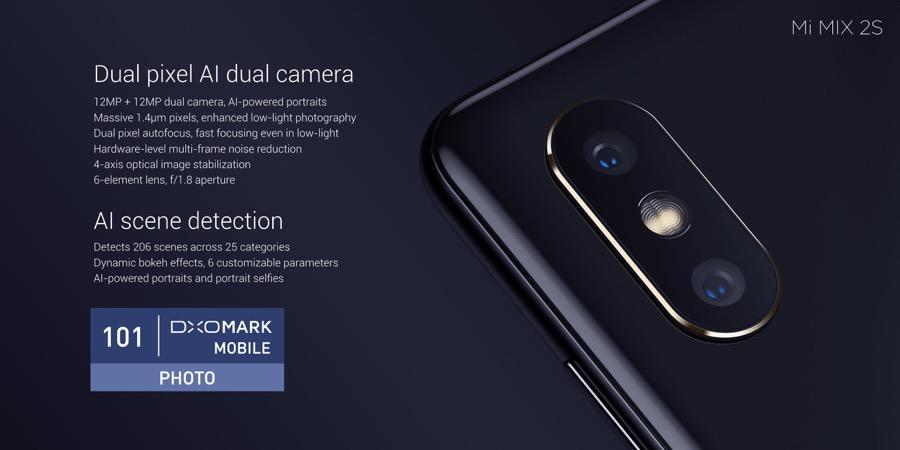 Xiaomi Mi MIX 2S camera